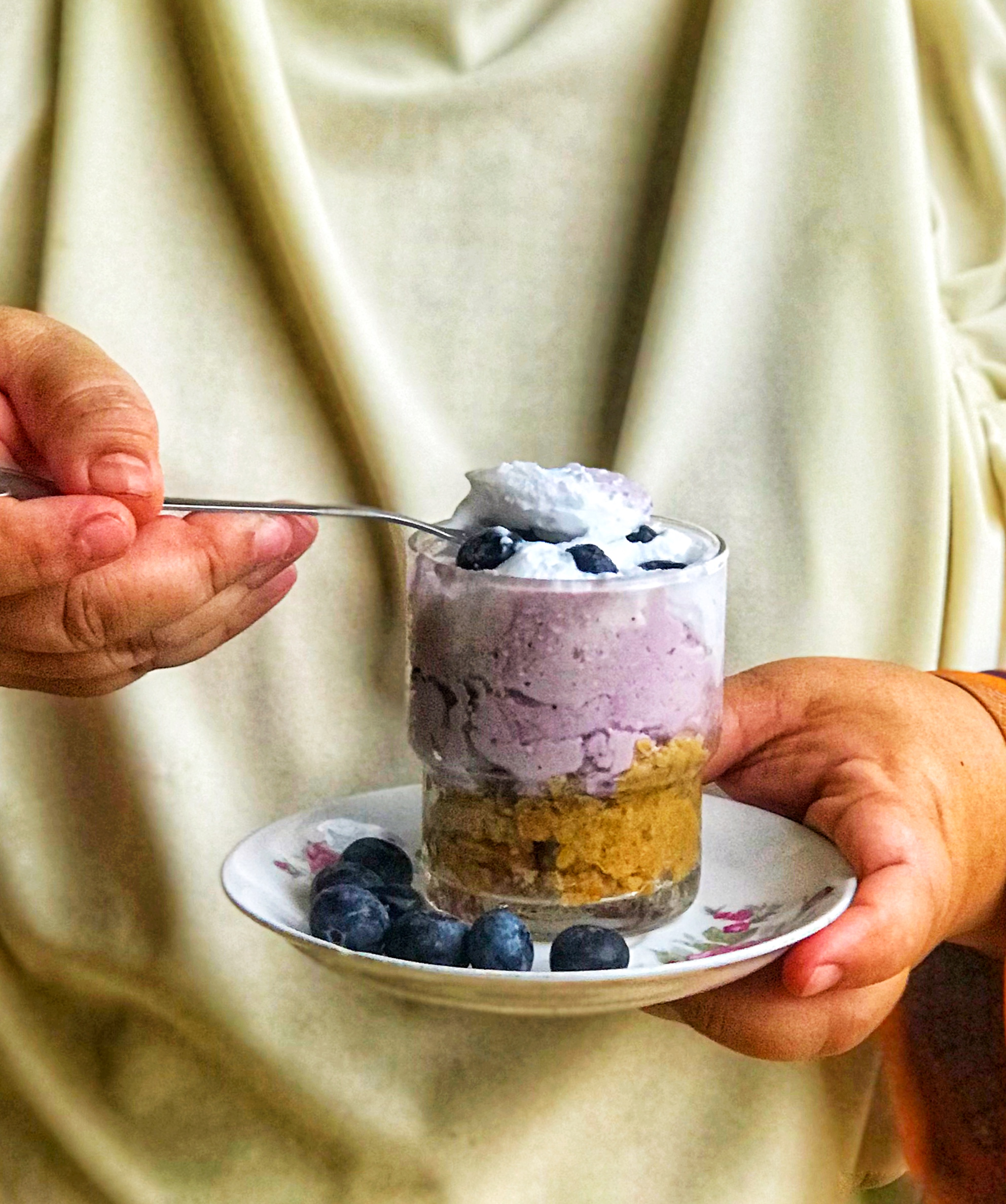 Manisan Popular – Kek Keju Blueberry  (Chilled Bluberry Chesse Cake)