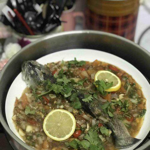 Ikan Kukus Taucu dan Sambal Belacan