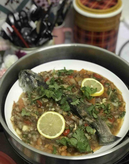 Lauk Simple – Ikan Kukus Taucu dan Sambal Belacan