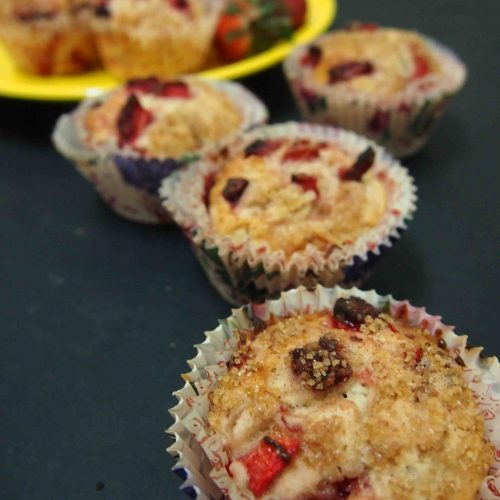 Strawberry Crumbled Muffin