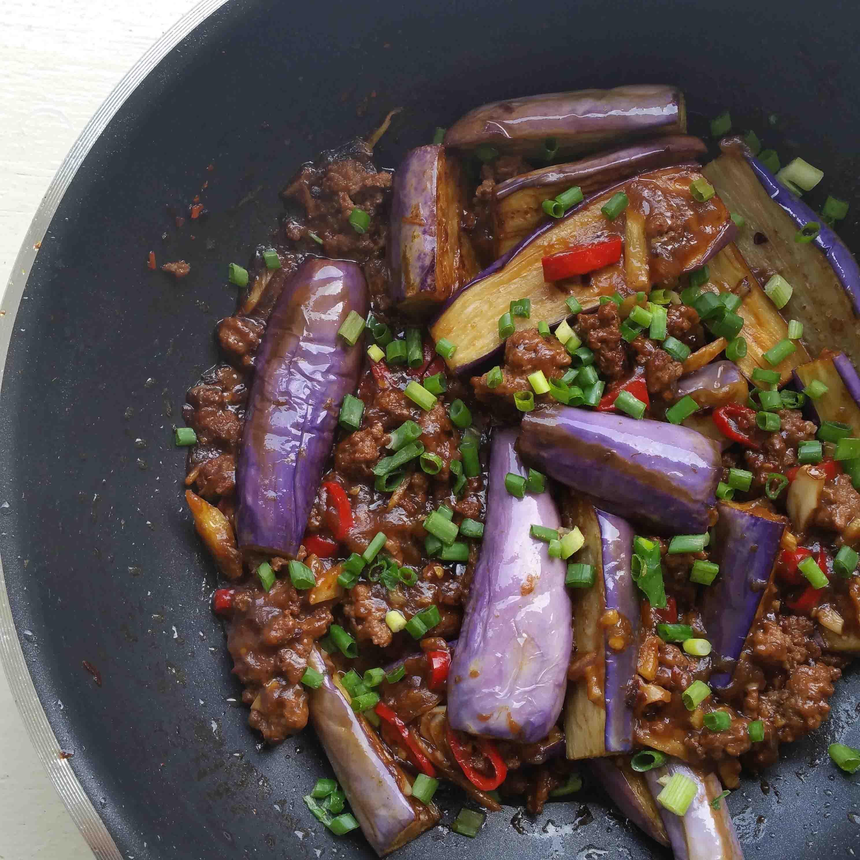 Lauk Pauk – Tumis Terung bersama Daging Cincang
